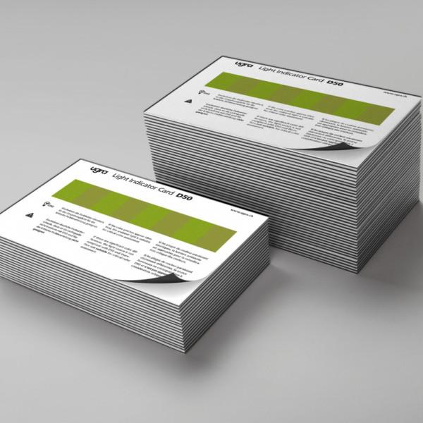 Ugra Light Indicator Card D50 – Magnetfolie
