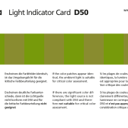 Ugra Light Indicator Card D50 – Vorderseite