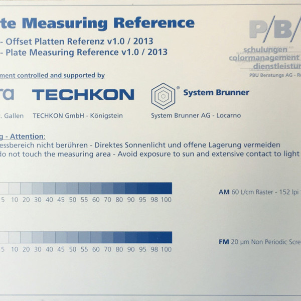 PMR Plate Measuring Reference
