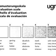 Ugra Scheuerprüfgerät – Abmusterungsskala