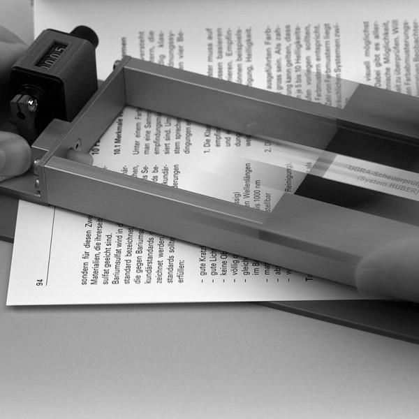 Ugra Scheuerprüfgerät – Anwendung