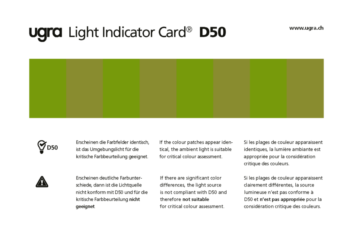Ugra Light Indicator Card Vorderseite
