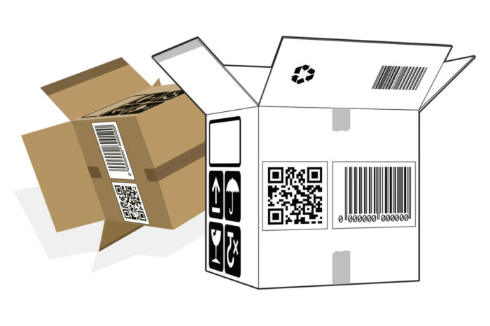 Verpackung mit Strichcodes zur Identifikation