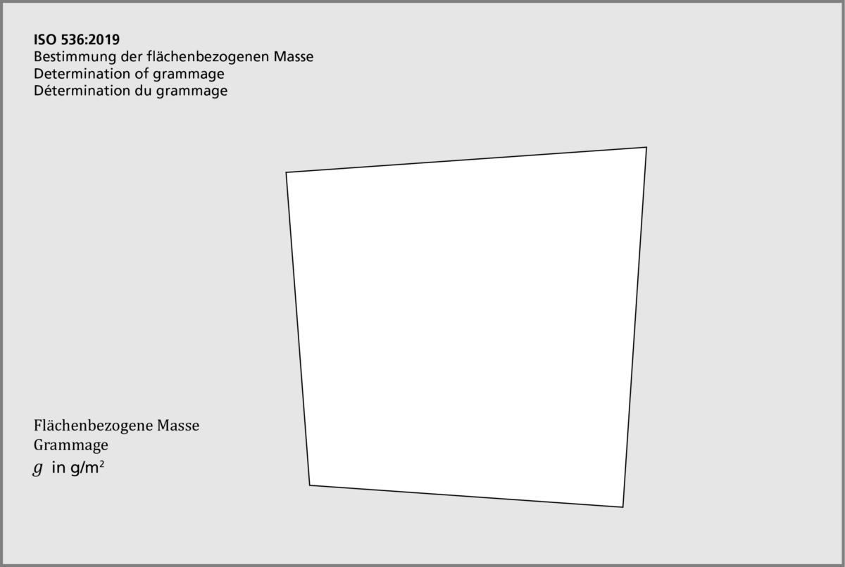 ISO 536 Bestimmung der Flächenbezogene Masse